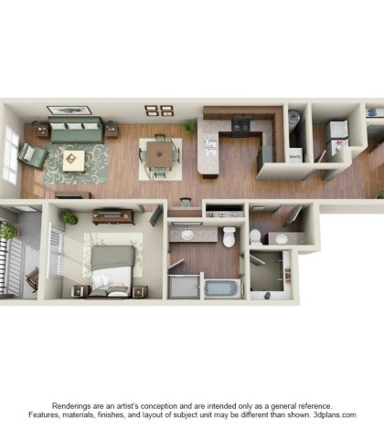 Langtree Apartments-Floor Plan-The Cobalt