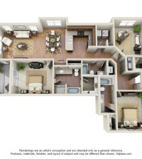 Langtree Apartments-Floor Plan-The Donzi