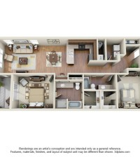Langtree Apartments-Floor Plan-The Sierra