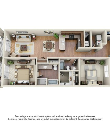 Langtree Apartments-Floor Plan-The Stingray